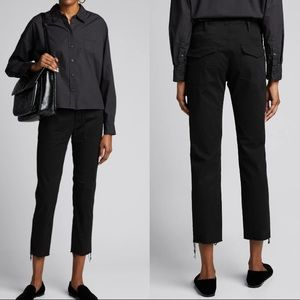 NEW Nili Lotan Jenna Slim Crop Stretch Twill Pants